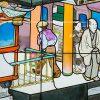 東京メトロ副都心線のステンドグラス