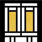 フランク・ロイド・ライト風明かり窓02 - ガラスカット